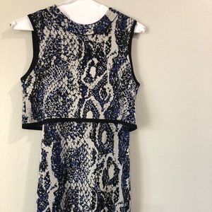 French Connection Snakeskin Knit Dress